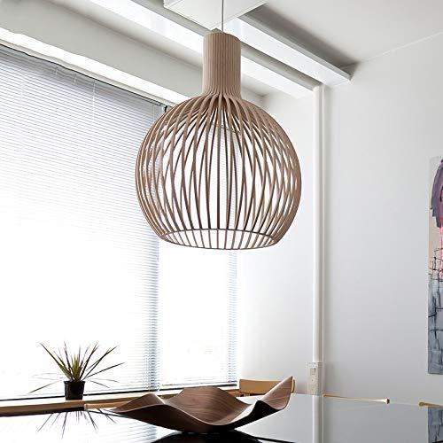 ZXC Luces colgantes de madera del estilo japonés lámpara colgante for la sala de estar Dormitorio Comedor Bar Decoración del café E27 Inicio Loft Hanglamp Adecuado para la mayoría de los tipos de habi