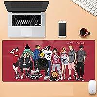 海贼王大型游戏鼠标垫 海贼王 英寸 XL 扩张垫 桌垫 橡胶制 One Piece 鼠标垫 Luffy桌&鼠标垫 一键式-A_800x300x3mm