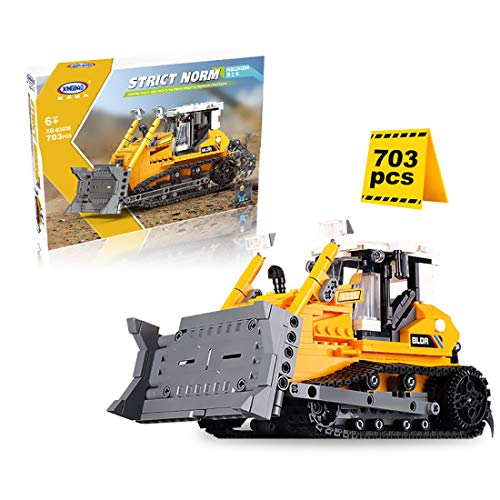 NFtop Technik Bulldozer Building Kit, Dozer Kompatibel mit Lego Technic Bulldozer - 703 Teile