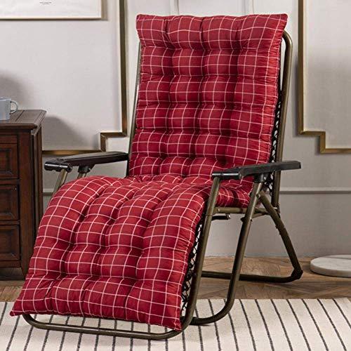 KAISIMYS Cuscini per sedie, Cuscino per lettini Prendisole Cuscino reclinabile per mobili da Giardino per Chaise Longue di Ricambio Morbido per Cortile Interno Esterno