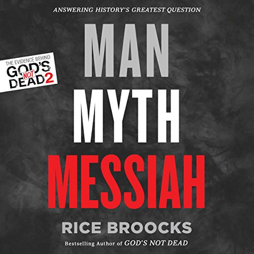 Man, Myth, Messiah audiobook cover art