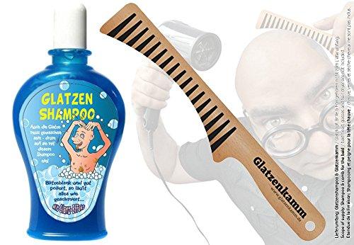 Glatzen-Shampoo + Glatzenkamm (SET) - Der Kamm für die Glatze & Glatzenshampoo (SET) - Scherzartikel