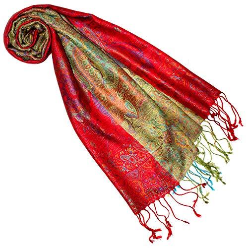 Lorenzo Cana Seidenschal für Frauen Schal 100% Seide gewebt Damenschal elegant Paisley Muster Bunt 7864977