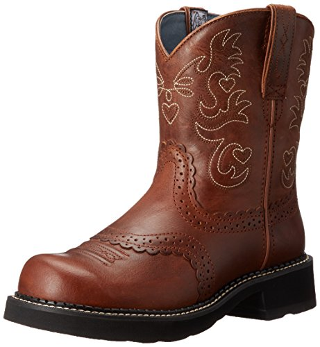 Ariat Women's Fatbaby Saddle Western Cowboy Boot, Russet Rebel, 7.5 B US