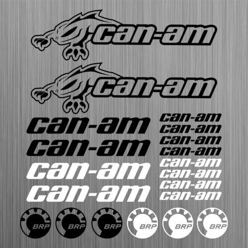 SUPERSTICKI can-am canam BRP Sticker Quad ATV Decal 20 Pieces aus Hochleistungsfolie Aufkleber Autoaufkleber Tuningaufkleber von SUP
