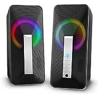 Altavoces PC Sobremesa, ELEGIANT 10W Altavoz USB & Bluetooth para Ordenador con Cable e Modo Inalámbrica, Sonido Estéreo de Doble Canal Multimedia para Ordenador Portátil Tableta Móvil MP3 Fiesta