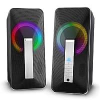 Altavoces PC Sobremesa, ELEGIANT 10W Altavoz USB & Bluetooth para Ordenador c...