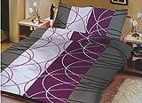 Zané Secrets - Biancheria da letto, 200 x 220 cm, 3 pezzi, in microfibra, con 2 federe 80 x 80 cm, colore: Viola