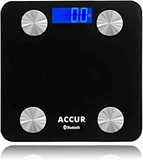 ACCUR Digital Scale Bathroom, Scales for Body Fat, Weight Scale with BMI, Most Accurate, Night Viewing, 396lb