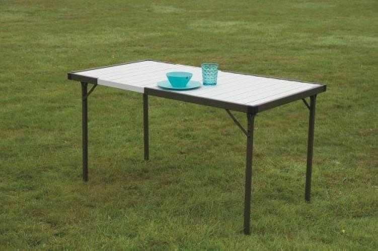 Quest Deluxe Gamme Premium enrouleHommest Table en aluminium pour le camping extérieur