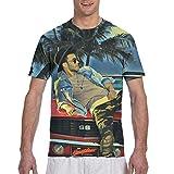 Rockfeeltee Men's Cotton Adult T-Shirt Prince Royce Crew Neck Tee Black Medium