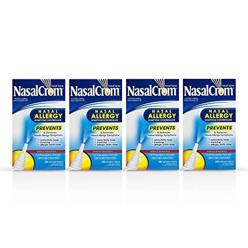NasalCrom Nasal Allergy Symptom Controller Spray - 0.88 oz, Pack of 4