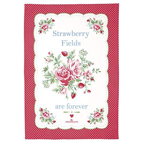 GreenGate Tea Towel Mary White Piece Printed