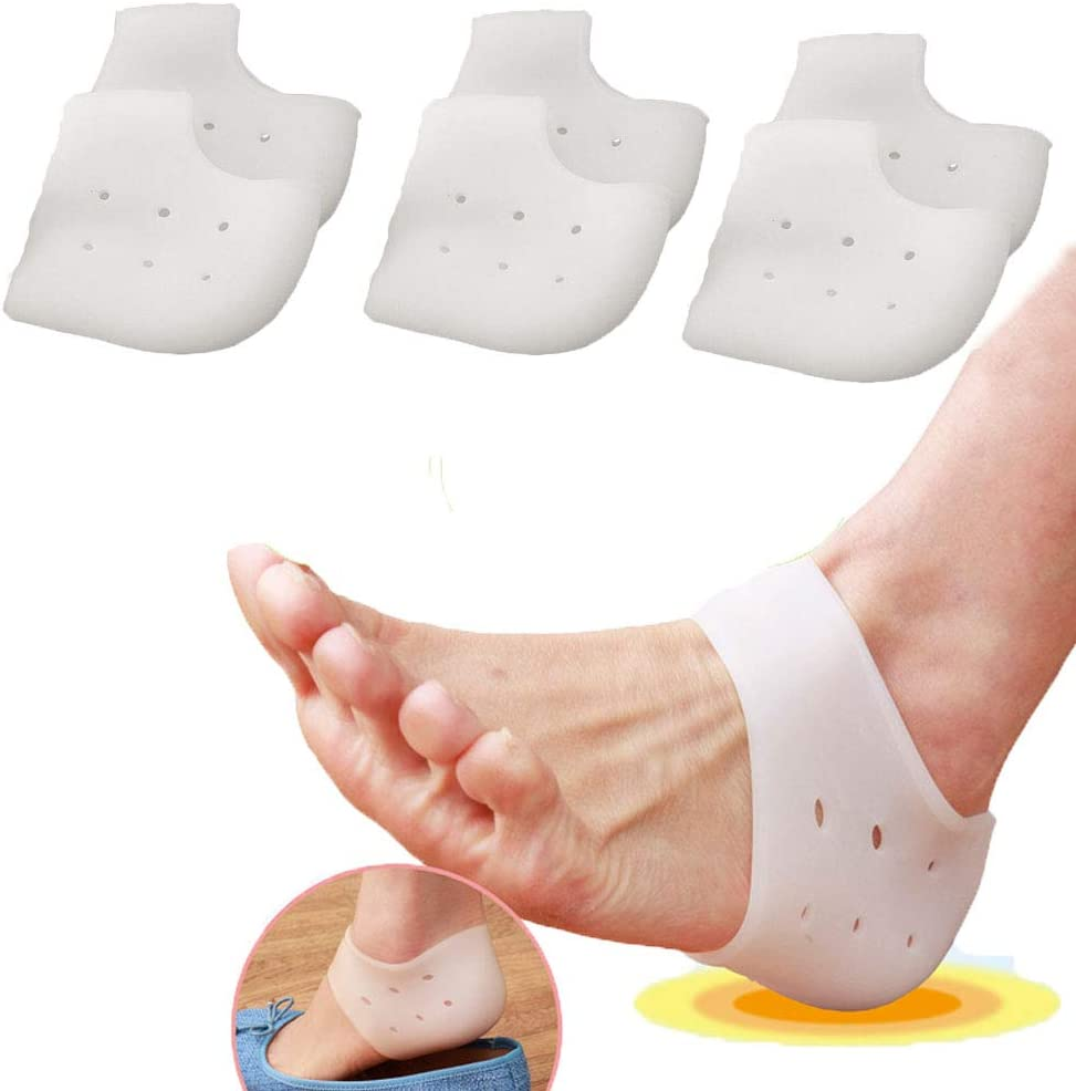 Heel Protectors 3pairs - Cushion Price reduction Silicone Foot Sleeves Gel 5% OFF