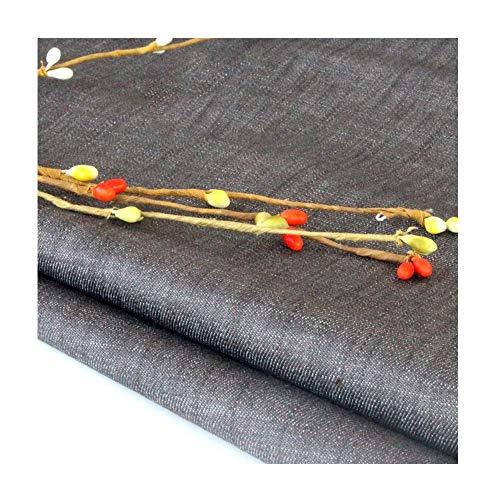 High stretch denim stof 150cm brede blauwe grijze making jurk jeans denim jasje verkocht door de meter (Color : Gray)