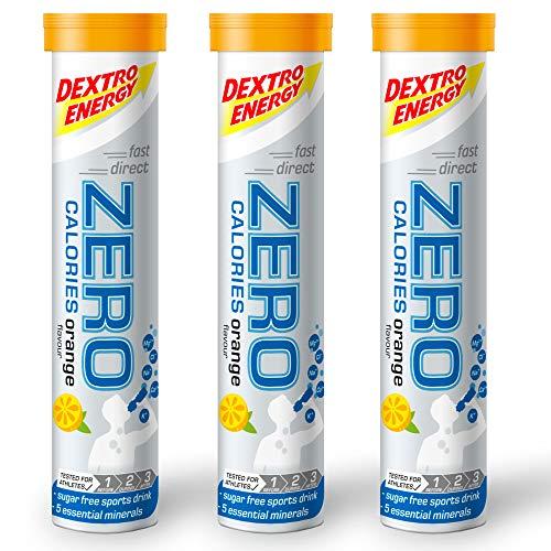 Elektrolyte Sport Tabletten Dextro Energy | 3x20 Elektrolyt Tabletten | Orange Geschmack | Zero Calorie Drink | Mineralstoff Tabletten | Vegan & Zuckerfrei