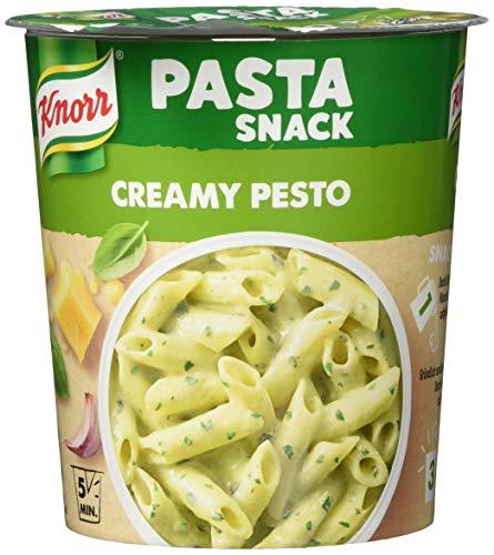Knorr Pasta Snack creamy pesto Becher, 4er Pack (4 x 68 g)
