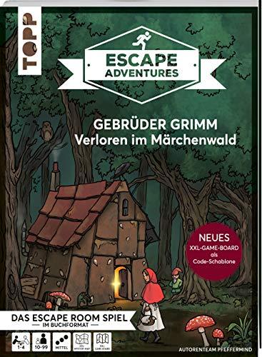 Escape Adventures – Gebrüder Grimm: Verloren im Märchenwald (NEUE Codeschablone für mehr Rätselspaß): Das ultimative Escape-Room-Erlebnis jetzt auch ... für 1-4 Spieler. 90 Minuten Spielzeit.