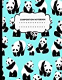 Composition Notebook: Panda Lover Notebook, panda gift for women, kids gift, panda gift for girls, Lazy Panda Lover Anniversary Gift panda book, panda ... who loves pandas Cute Little Bear Panda Jour