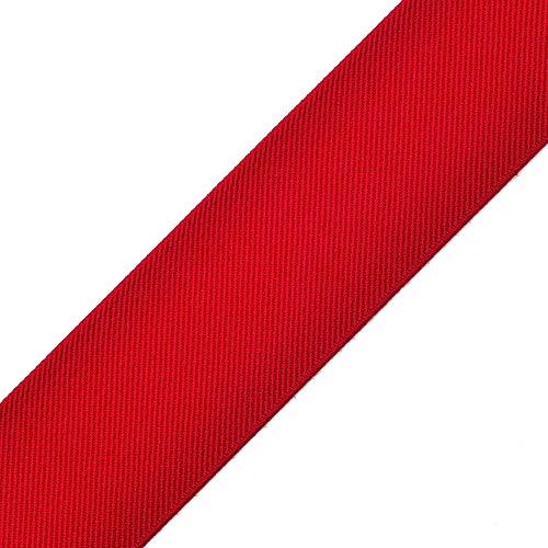 4-Yards 2-inch (50mm) Twill Elastic Band Trim, Waistband Elastic, Elastic Trim, Elastic Ribbon, TR-11831 (Red)
