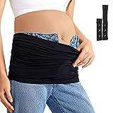 Gratlin Cinturón de Maternidad Embarazada y Extensor de Cintura Sin Costura Negro M