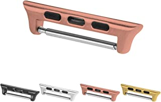United Watch Bands Fits Apple Watch Connector - Adapter to Connect Replacement Watch Bands - Choice of Colors & Widths - Simple Slide-On Installation (Rose Gold, 38mm)