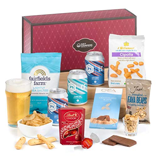 Hay Hampers -Pale Ale and Nibbles Hamper Box Gift for Him