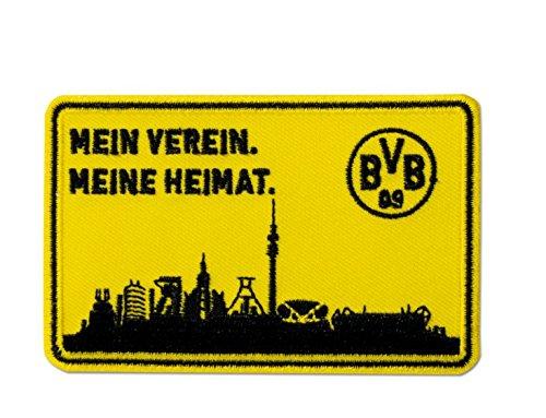 Borussia Dortmund BVB Aufnäher ZollSkyline, Polyester, schwarz/gelb, 10 x 5 x 1 cm, 1 Einheiten