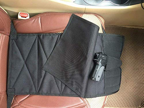 DMAIP Under The Seat Concealment Pistol Holster with Pieces Pouch