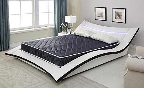 AC Pacific 6 Foam Mattress Covered in a Stylish Navy Blue Waterproof Fabric, Full, Navy Blue