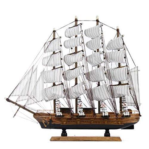 1yess Wohnzimmer Dekorationen Segelboot Modell Holz Handwerk Tisch Ornamente Büro Shop Club Dekoration Kits Klassik 50cm Holz Segelboot Schiff Modell Wohnkultur 8bayfa