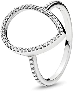 PANDORA Jewelry - Teardrop Silhouette Ring for Women in Sterling Silver with Clear Cubic Zirconia