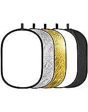 Neewer 5-in-1 fotostudio, 60 x 90 cm, ovale multidisc, inklapbare lichtreflector set met draagtas voor studiofotografie