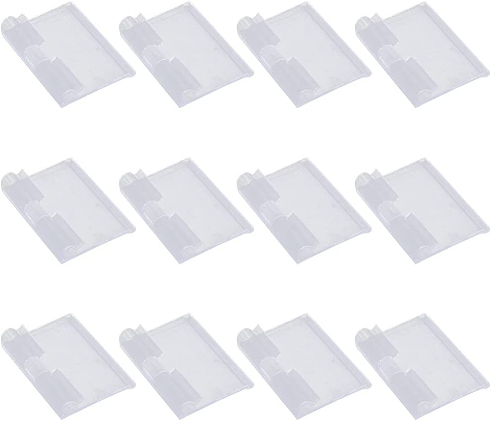 NUOBESTY 50 Topics on TV Philadelphia Mall Pcs Clear Plastic on Clip Label Labels Holder