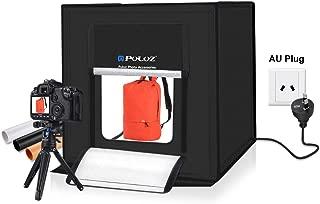PULUZ Photo Studio Light Box Portable 60 x 60 x 60 cm Light Tent LED 5500KMini 60W Photography Studio Tent Kit with 3 Removable Backdrop Black Orange White AU Plug