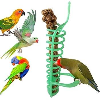 Gutyan Perroquets Oiseaux Panier À Aliments Alimentaires Suspendus Perroquet Aliments pour Oiseaux Panier Aliments Jouets