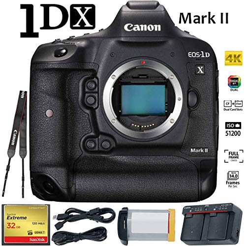 Canon EOS-1D X Mark II (Body) DSLR Camera International Version with Battery and 32GB Ultra Fast CF Card