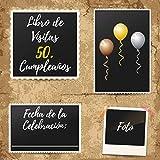 Libro De Visitas 50 Cumpleaños: Decoración fiesta cumpleaños 50 años - Para Deseos escritos y las Fotos más bellas - Idea de regalo de 50 años