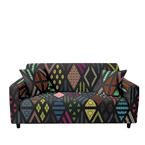 Surwin Sofabezug Sofa Überwürfe 1 2 3 4 Sitzer, Elastische Muster Universal Sofahusse Sofa Abdeckung Stretch Schonbezug Couchbezug für Armlehnen Sofa (Bunt,3 Sitzer (190-230cm))