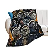 Michael Myers Collage Art Blanket Warm Plush Cozy Soft Blankets for Chair/Bed/Couch/Sofa Home Decor 60'×80'