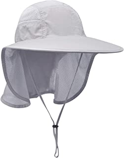 Lenikis Unisex Outdoor Activities UV Protecting Sun Hats with Neck Flap