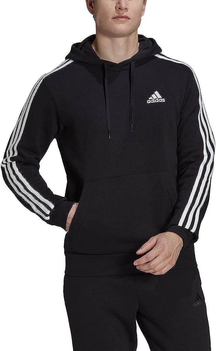 adidas Essentials Hoodie - Mens Casual 2XLT Black-white