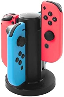 Ceyo Switch JoyCon 充電器 充電 スタンド コントローラー 充電器 【4台同時充電】 充電ホルダー 充電チャージャー 置くだけ充電 充電指示ライト 色切替え (新版)