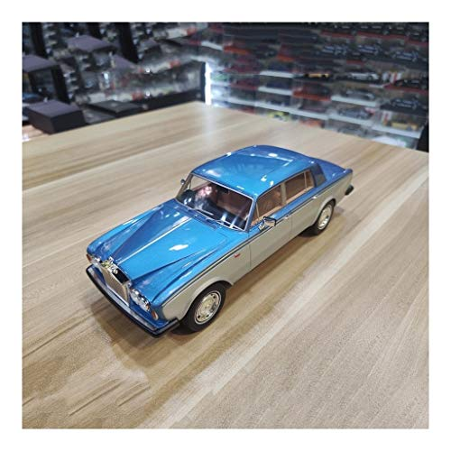 Car Model Scale 1:18 / Compatible with Rolls Royce Silver Shadow II/Artificial Resin Material High Transmittance Glass Static High Simulation Vehicle Model (Color : Blue)