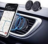 Amazon Brand - Eono Soporte Móvil Coche 【2 Pack】 Iman Soporte Smartphone Magnético, Universal Sujeta Celular Ventilación Rejillas del Aire, Accesorios para Coche, Compatible con iPhone Samsung Huawei