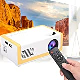 Mini Projector for Kid, Full HD 1080P Portable LED Video Projector 1920X1080 30,000 Hours Pico Projector Home Cinema Theater Multimedia Movie Player Support HiFi for Courtyard Travel Camping(US)