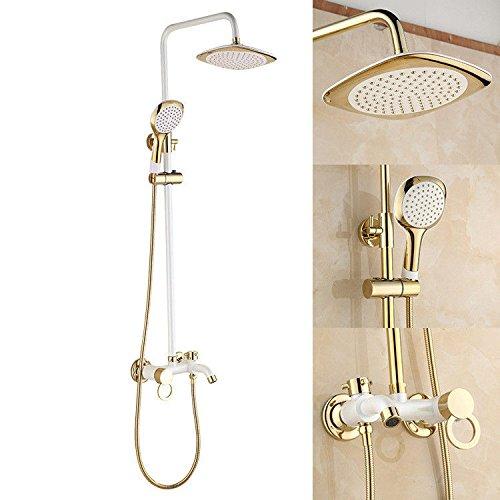 Bijjaladeva Antieke badkamer regendouche kraan systeem tikken witte kleine douchecabine douche badkamer volledig koper warm en koud water douche badkamer douche tippen