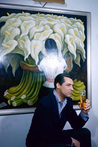 Cary Grant - Poster con immagine classica rara, 60 x 91 cm, con bicchiere di birra