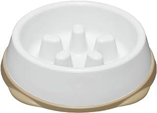 アイリスオーヤマ 早食い防止食器 Sサイズ でこぼこが低いタイプ ホワイト/ベージュ