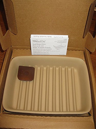 Pampered Chef 1342  Small Ridged Baker, 9 x 6.75 x 1.75-Inches